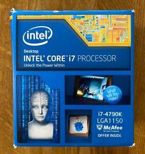 Intel Core i7-4790K 4.0GHz Quad-Core Prozessor CPU (Box, gut erhalten,LGA1150)