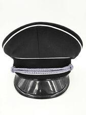 WW2 German military Elite oficial Visor sombrero mundo Black white edge