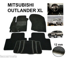 Carpeted Fully Tailored Carmats DELUXE Mats fit Mitsubishi OUTLANDER XL 2006-12