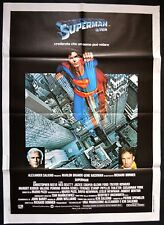 manifesto 2FG SUPERMAN IL FILM  CHRISTOPHER REEVE MARLON BRANDO HACKMAN EROI