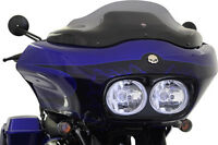 "Klock Werks 8"" Dark Smoke Flare Windshield Harley Road Glide FLTR 1998-2013"