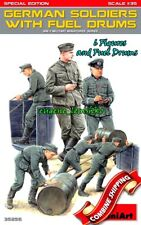 Miniart 35256 German soldiers with Fuel Drums. Special Edition, Plastic Kit 1/35
