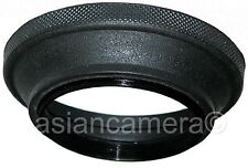 72mm Wide Angle Rubber Folding Lens Hood Shade Screw-in Metal Ring 72 mm U & S