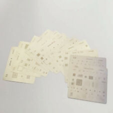 15pcs Reball Rework Heated Directly BGA Stencils Template for iPhone Series 4-X