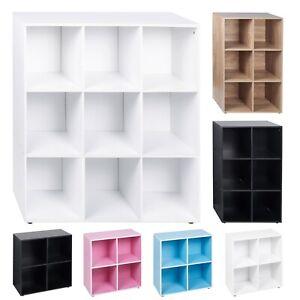 4 6 9 Cube Wooden Bookcase Shelving Display Storage Wood Shelf Living Room Unit