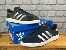 ADIDAS MENS UK 9 EU 43 1/3 MUNCHEN NAVY BLUE SILVER SUEDE TRAINERS RRP £80