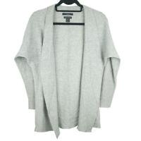Tahari Womens Gray 100% 2 Ply Cashmere Open Long Sleeve Cardigan Size XS