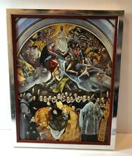 """Vtg """"The Burial of the Count of Orgaz"""" by El Greco, on canvas & framed 13.5x18"""""""