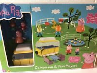 Peppa Pig Campervan and Park Playset. BNIB