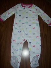 Toddler Girls CARTER'S Blanket Sleeper / Pajamas Size 5T NEW NWT - WHITE W/ BOWS