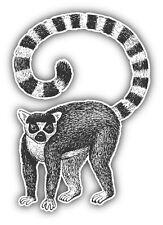 Lemur Sketch Car Bumper Sticker Decal 4'' x 5''