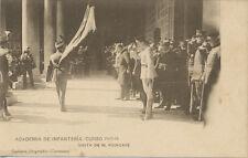 Tarjeta Postal. Academia de Infantería. Curso 1913-14. Visita de M. Poincaré.