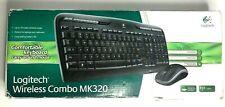 Logitech MK320 Wireless Keyboard & Mouse Combo With Media Shortcuts Black