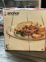 NEW Anchor Hocking Isabella Chip and Dip Set Never been used Still in box.