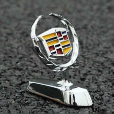 3D Chrome Hood Stand Ornament Emblem Badge Sticker for Cadillac SRX ATS XTS