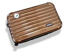Rimowa Brown Metallic Zipped Cosmetic Kit Clutch Pochette Bag 2 VIP First Class