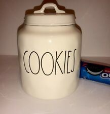 New Fun Trendy Rae Dunn By Magenta COOKIES Cookie Jar Pottery Canister Container