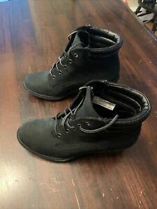 Women's Amston Timberland Black Nubuck Wedge Suede Boots 7M Style 8253A A3519