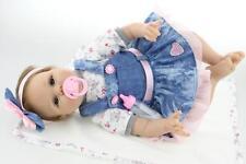 22'' Silicone Vinyl Reborn Doll Gift Baby Dolls Lifelike Baby Newborn Handmade
