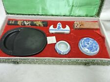 Vintage Ink Stone Asian Japanese Chinese Painting Calligraphy Drawing Kit