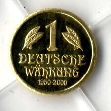 DEUTSCHLAND: 50 JAHRE DEUTSCHES MARKSTÜCK, 585 GOLD, Medaille, PP, COA, G12/G817