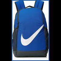 NWT Nike youth Brasilia Kids Backpack game royal blue/White/black