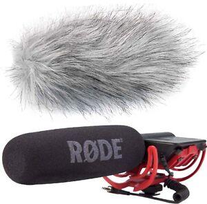 Rode Videomic Rycote Richtmikrofon + keepdrum WS-WH Fell-Windschutz