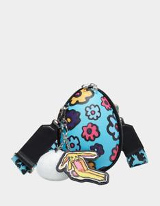 Betsey Johnson Kitsch Eggecelent Crossbody Bag Blue Limited Edition SEALED