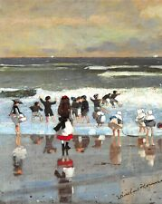 "Superb Quality 10x8"" Art Print, Beach Scene (c1869) by Winslow Homer (1836-1910)"