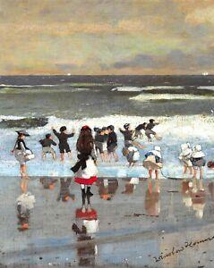 "Superb Quality 10x8"" Art Print, Beach Scene (c1869) by Winslow Homer (1836-1910)"