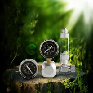 CO2 Regulator Controller with Solenoid Valve & Co2 Bubble Counter Silver