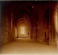 Francia Interior Abadía, Foto Estéreo Vintage Placa Cristal VR3L12n2