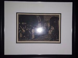 CHRIST BEFORE PILATE - Etching by Charles Albert Waltner 1881
