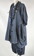 Lagenlook Sarah Santos coton parachute manteau taille XL/XXL bleu