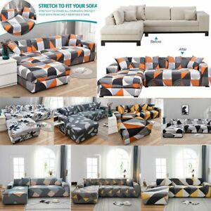 Stretch L Shape Sofa Slipcover Sectional Couch Covers with 4Pcs Free Pillowcase