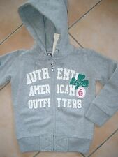 (1) American Outfitters Girls Kapuzen Sweatjacke + Logo Aufnäher & Strass gr.116