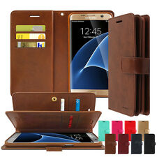 Goospery Dual Leather Wallet Book Case Cover For Galaxy S7 S8+ S9+ S10+ Note A J