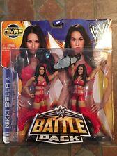 Mattel WWE NIKKI & BRIE BELLA figure Battle Pack 26 Twins Red Total Divas Rare