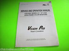 """Happ Original 13"""" 19"""" Color Tv Monitor Display Ktn-Xx01 Service Repair Manual"""