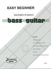 Easy Beginner Bass Guitar Instruction Book: Teach Yourself the Basics of Bass