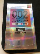 Okamoto 002 Zero Zero Two Real Fit Ultra Thin 0.02 mm Condom 6pcs(US Seller)