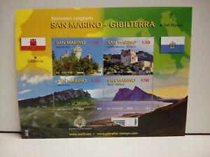Francobolli Foglietto San Marino - Gibilterra Congiunta 2010 Nuovo MNH