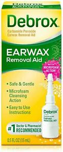 Earwax Remover Drops Debrox Removal Aid Remove Cleanse Soften Ear Wax 0.5Oz 15ml