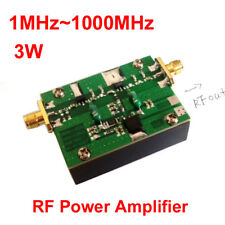 1MHz-1000MHZ 3W 35DB HF VHF UHF FM transmitter RF Power Amplifier For Ham Radio