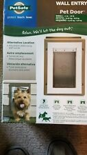 New PetSafe Wall Entry Pet Door with Telescoping Tunnel Aluminum Small