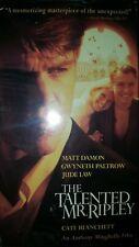 'The Talented Mr Ripley' Matt Damon Vhs 2000 Box - Rental, Great Condition