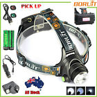 BORUiT 12000LM XM-L T6 LED HeadLamp Zoomable HeadLight Torch 6000mAh 18650 Charg