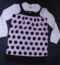 New Girl's Gymboree Sweeter Than Chocolate  Polka Dot Jumper and Top Sz 10-12