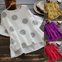 Women Summer Loose Blouse T-Shirts Casual Plus Baggy Tunic Tee Shirt Tops S-5XL