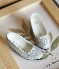 1/3 bjd SD13 SD10 girl doll silver glitter flat shoes dollfie dream Luts shipUS
